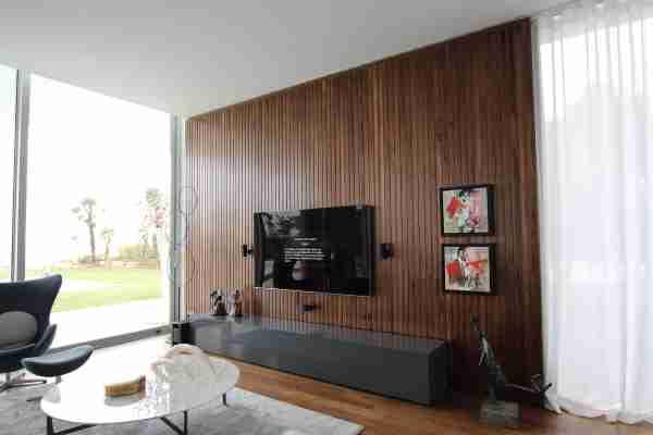 Revestimento de parede em madeira