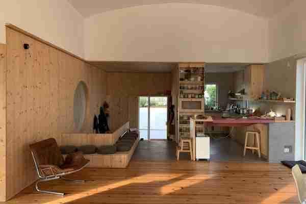 Revestimento de madeira para casa particular