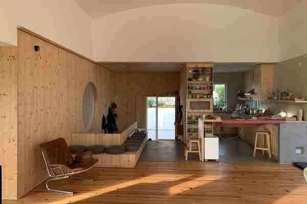 Sala / cozinha em madeira