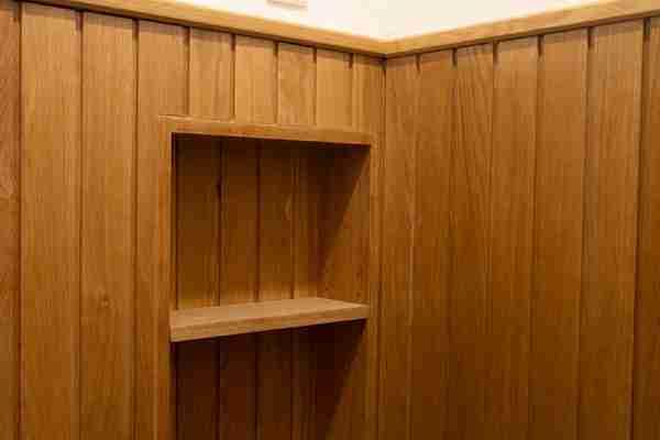 pormenor de parede de madeira